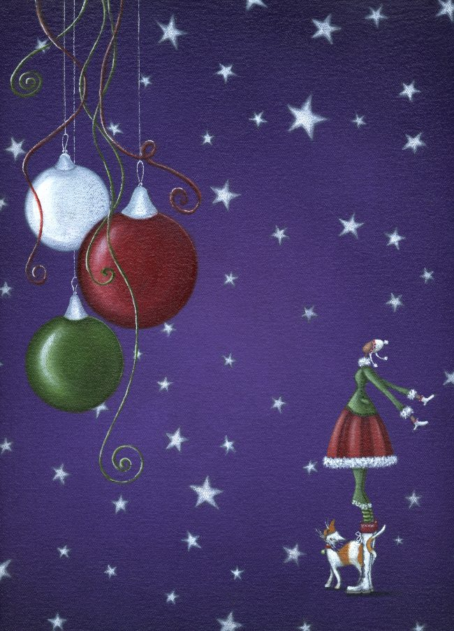 GREETINGS CARDS_XmasBaublePurple