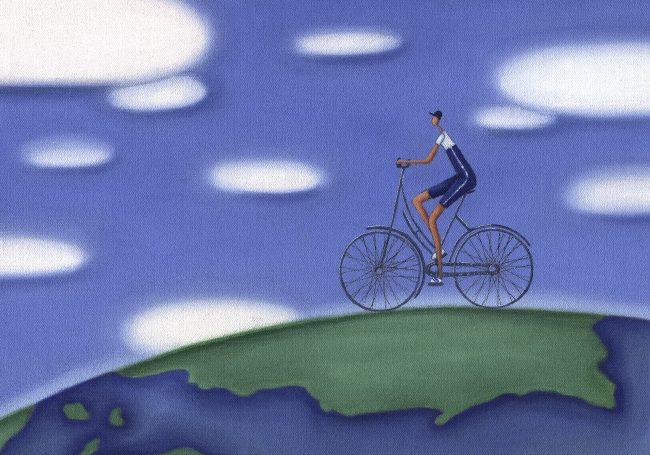 CORPORATE_CyclistGlobe