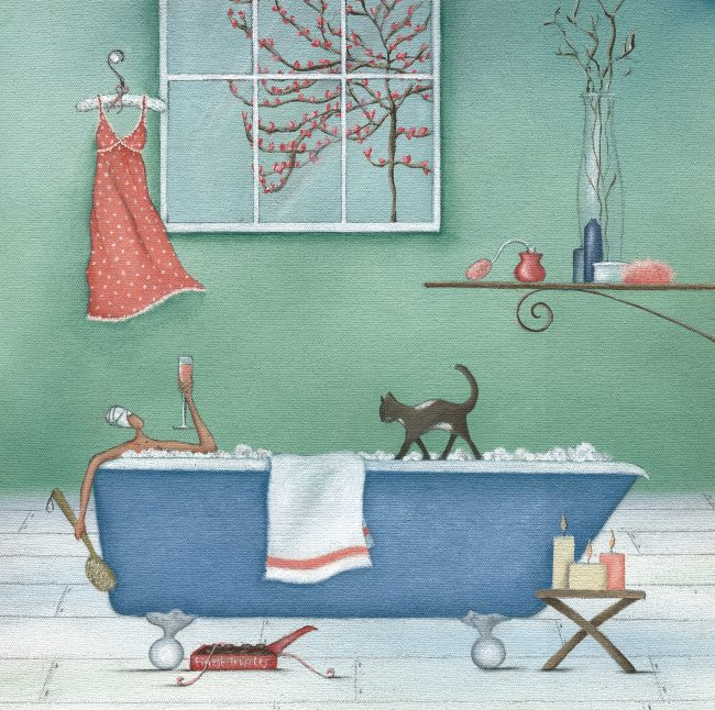 GREETINGS CARDS_BathTub&Cat