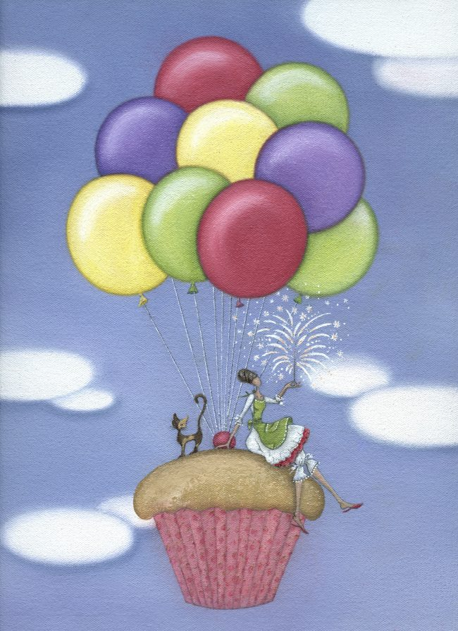 GREETINGS CARDS_CupcakeBalloons